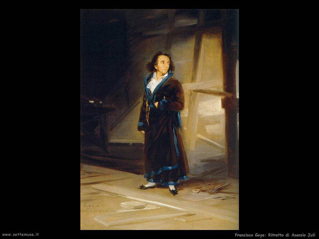 Francisco de Goya ritratto di asensio juli
