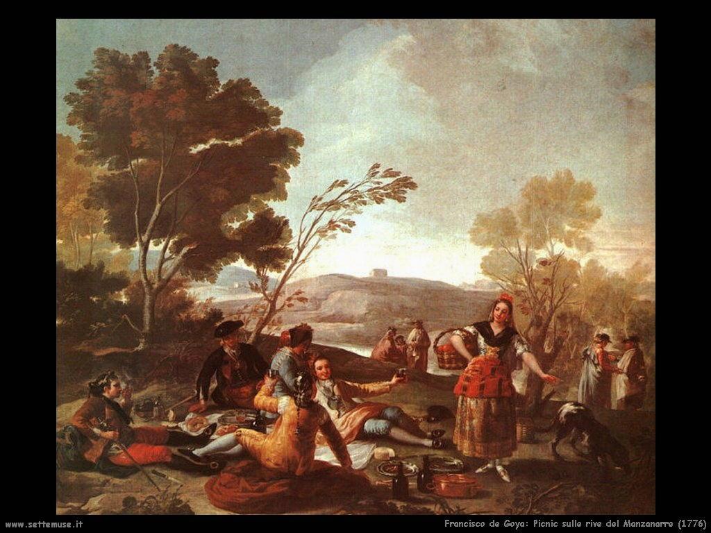 Francisco de Goya picnic rive manzanares 1776