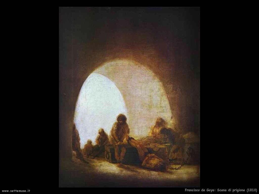 Francisco de Goya scena di prigione 1810