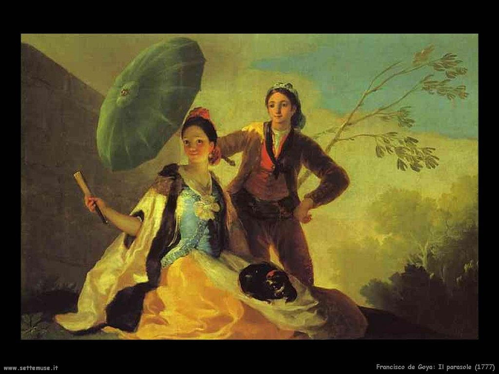 Francisco de Goya il parasole 1777