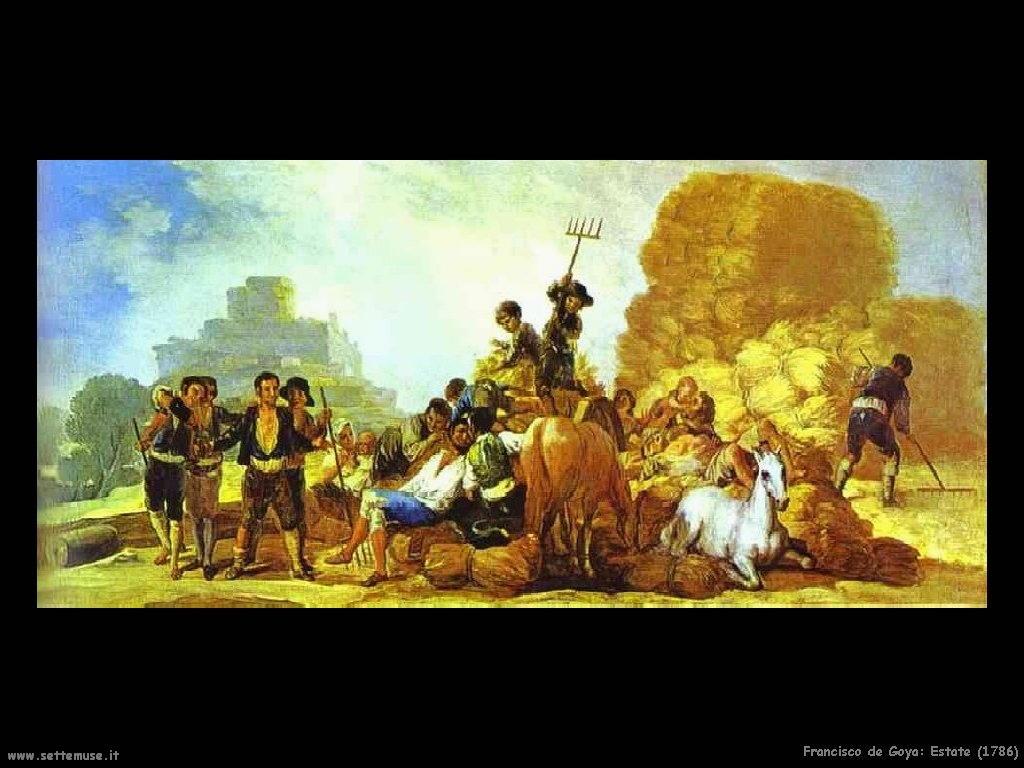 Francisco de Goya estate 1786