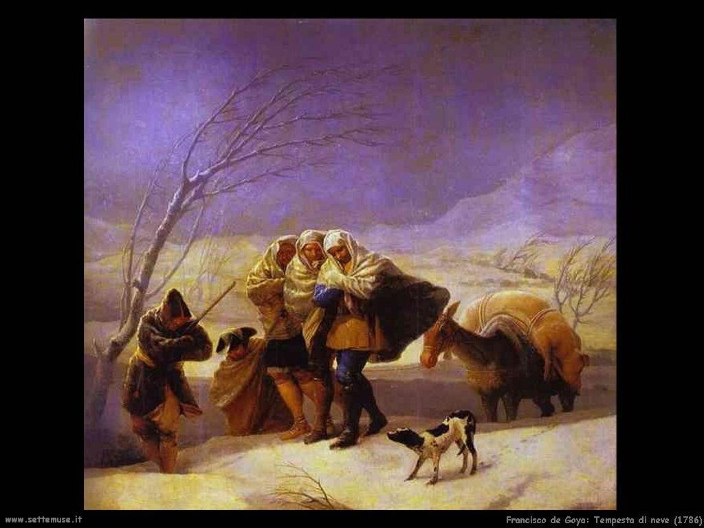 Francisco de Goya tempesta di neve 1786