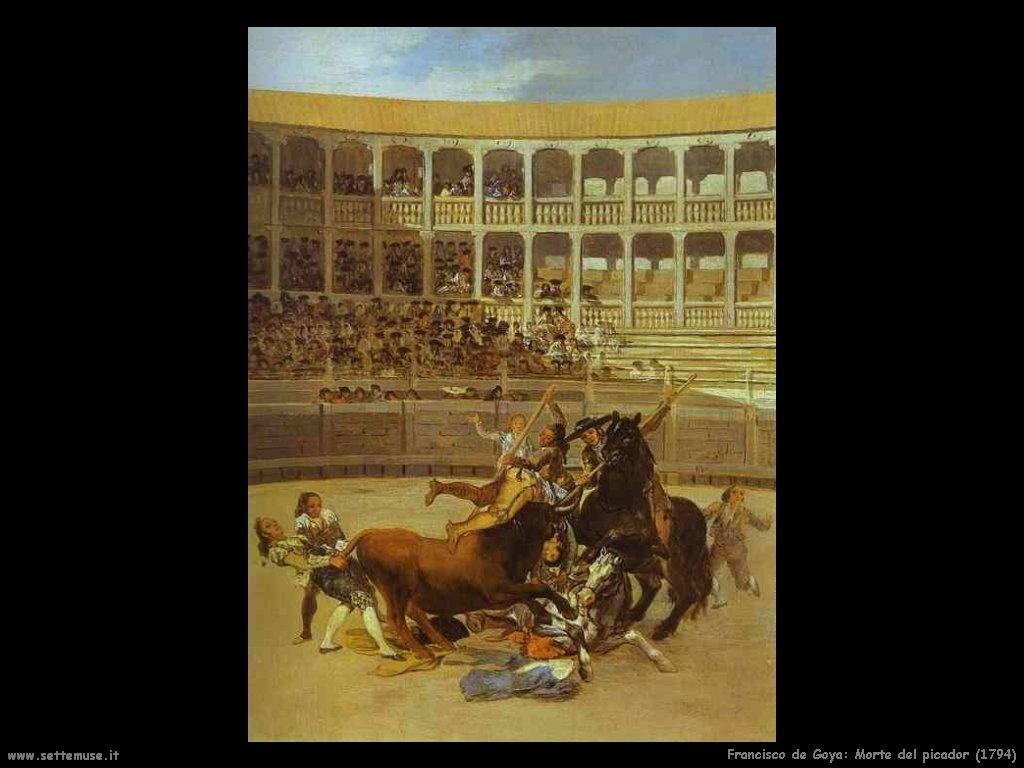 Francisco de Goya morte del picador 1794