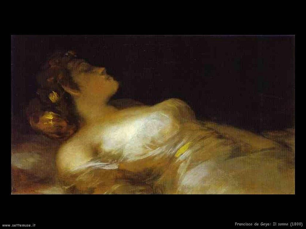 Francisco de Goya sonno 1800