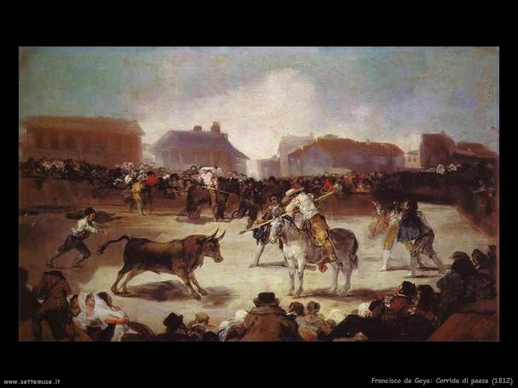Francisco de Goya corrida di paese 1812