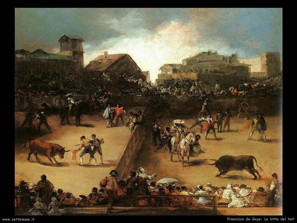 Francisco de Goya la lotta dei tori