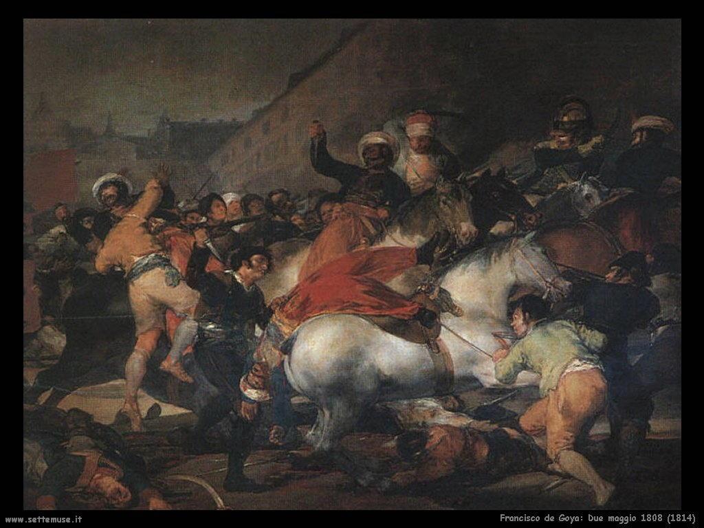 Francisco de Goya due maggio 1808 1814