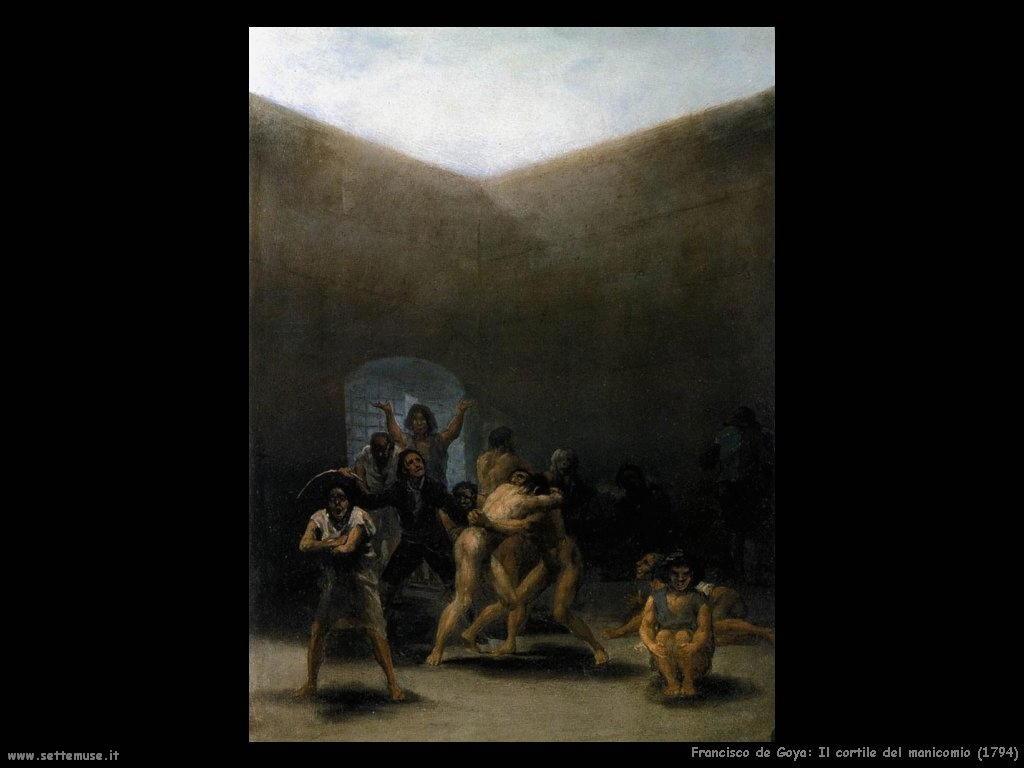 Francisco de Goya il cortile del manicomio 1794