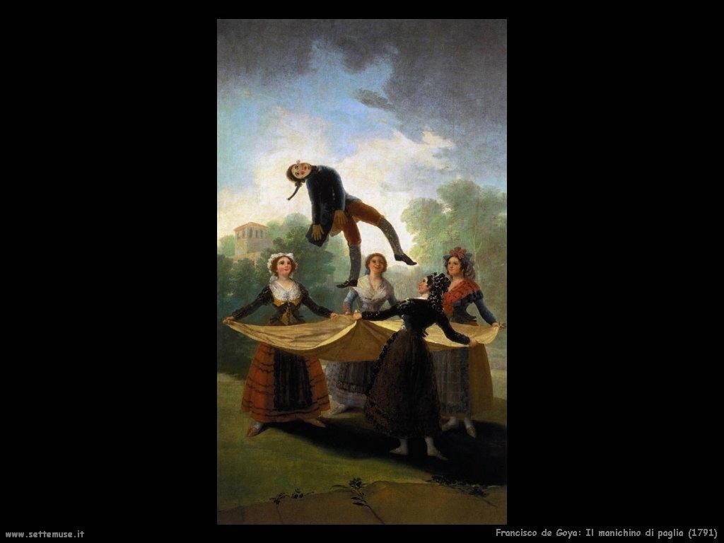 Francisco de Goya il manichino di paglia 1791
