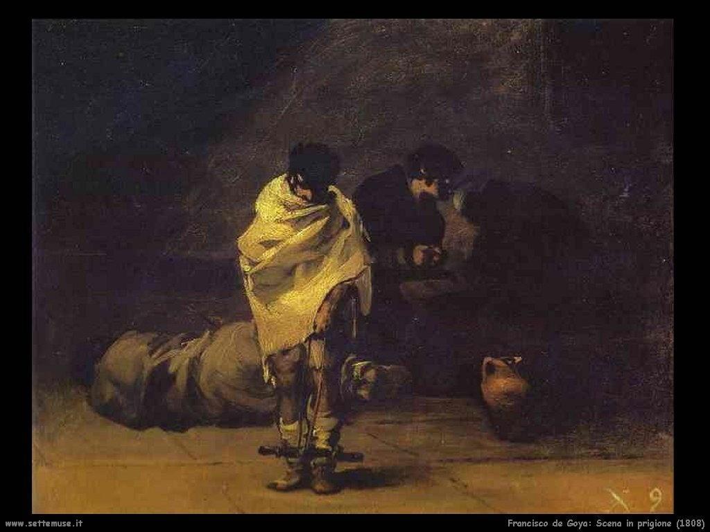 Francisco de Goya scena in prigione 1808
