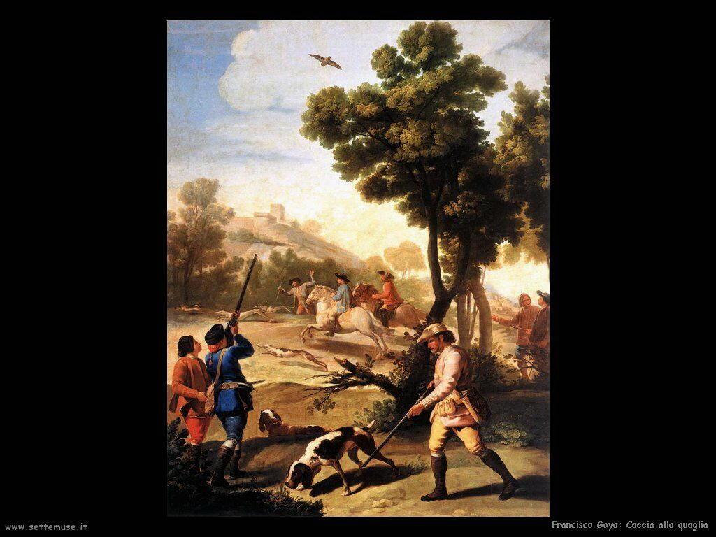 Francisco de Goya caccia alla quaglia