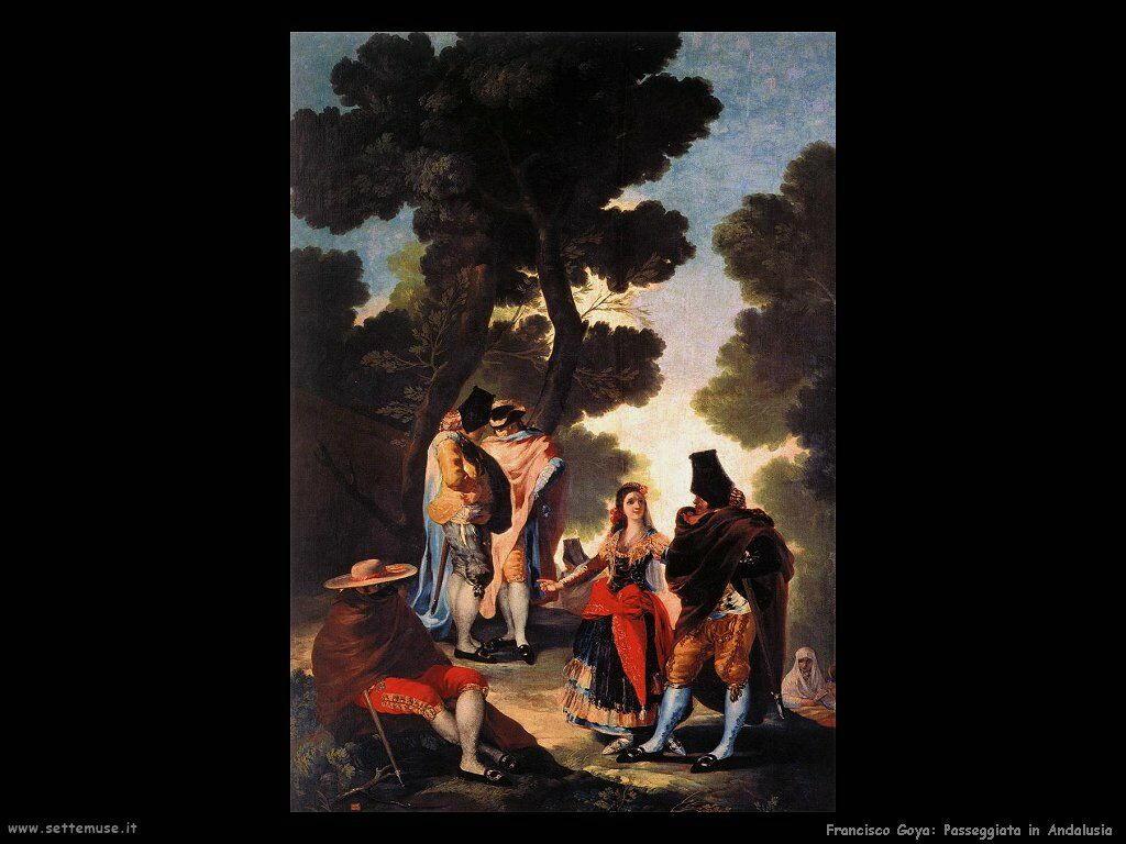 Francisco de Goya passeggiata in andalusia