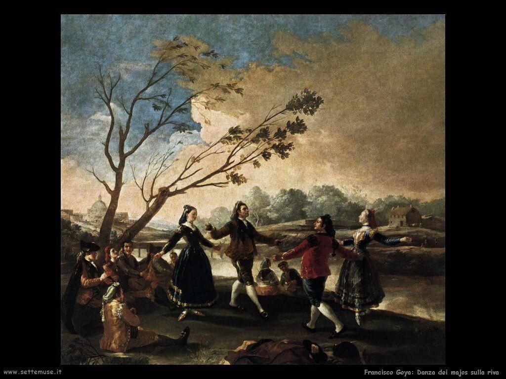 Francisco de Goya danza dei majos sulla riva