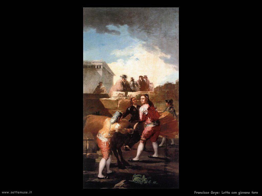 Francisco de Goya lotta con giovane toro