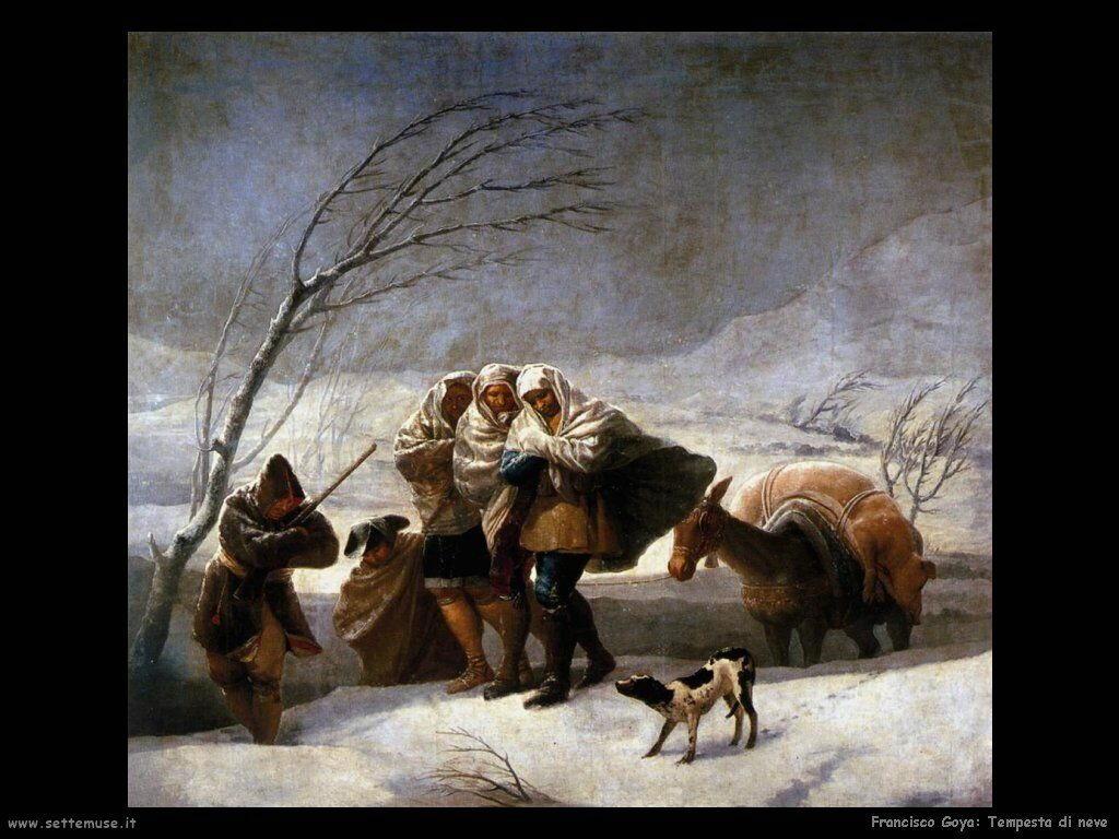 Francisco de Goya tempesta di neve