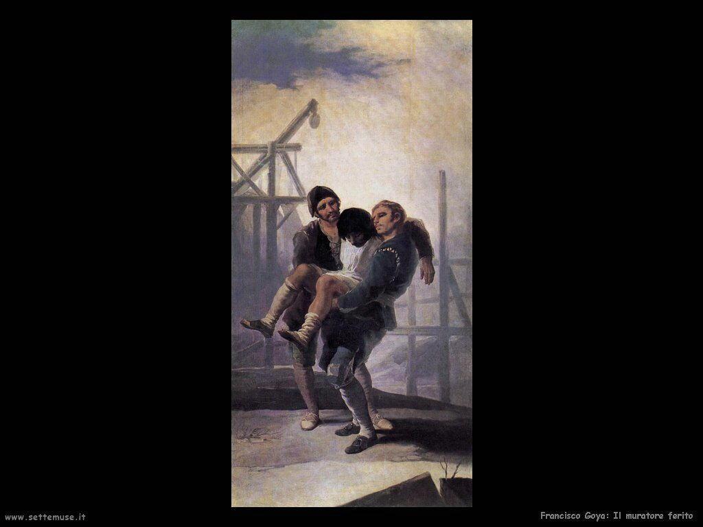 Francisco de Goya muratore ferito