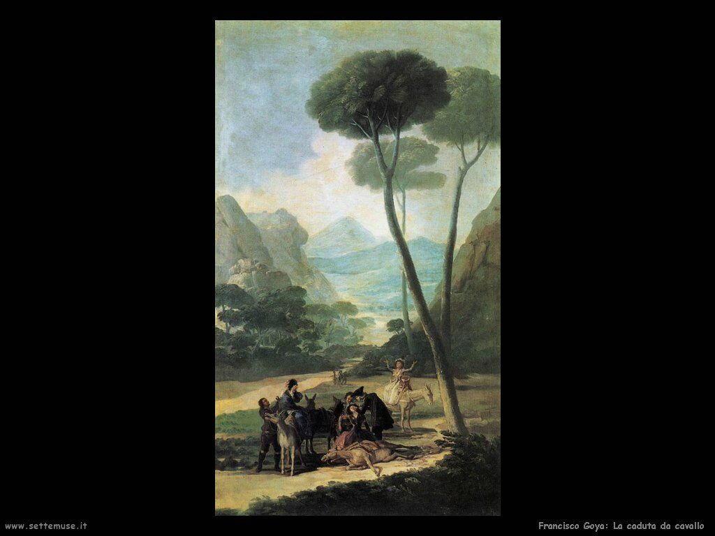 Francisco de Goya la caduta da cavallo