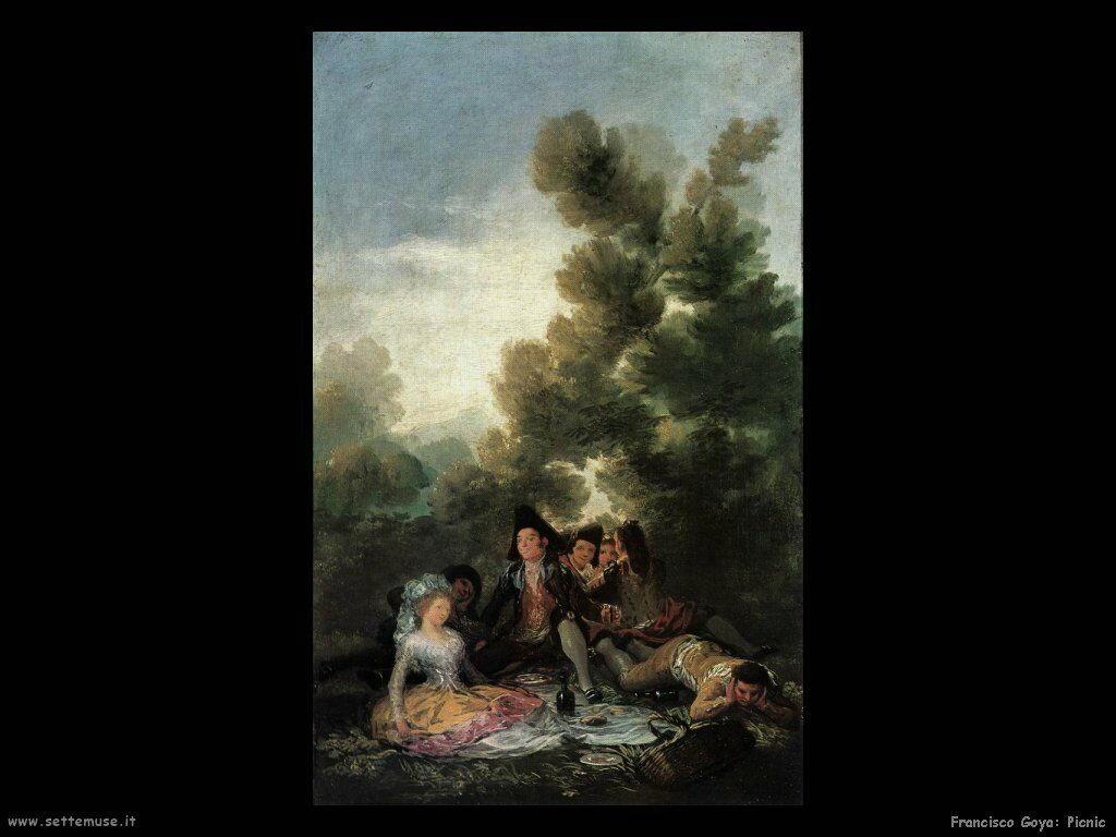 Francisco de Goya picnic
