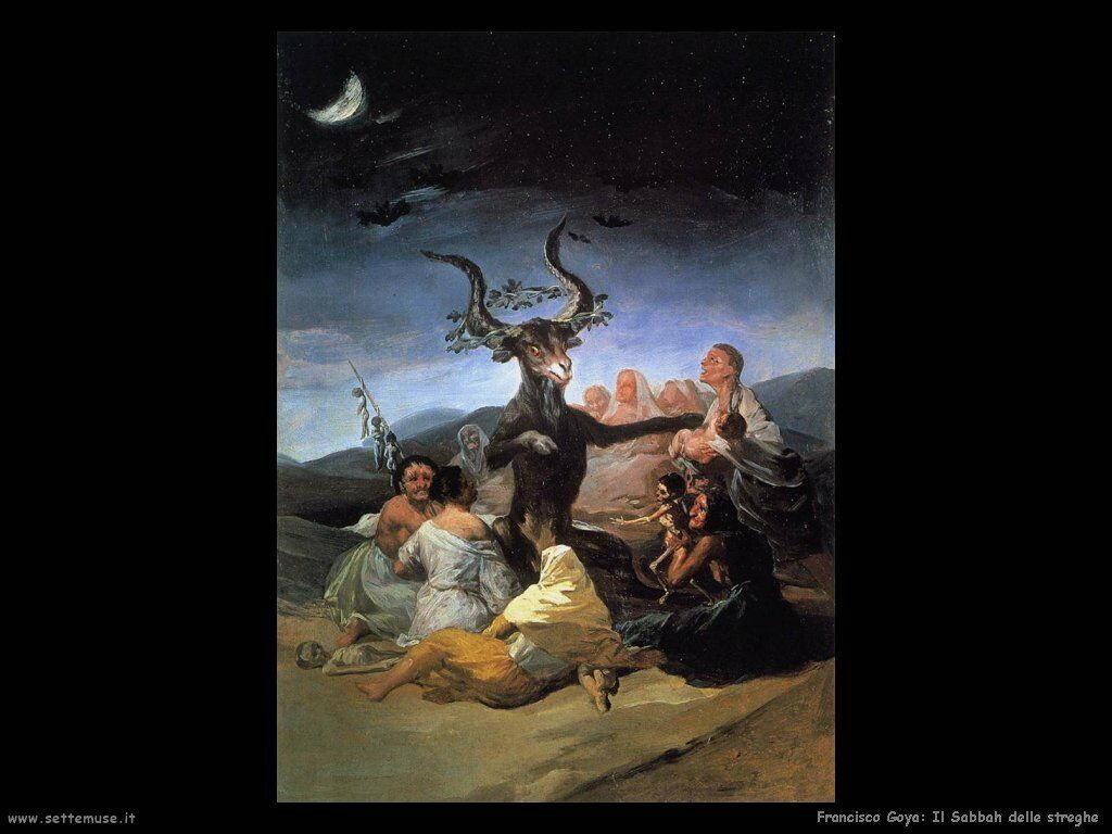 Francisco de Goya sabbath delle streghe 1798