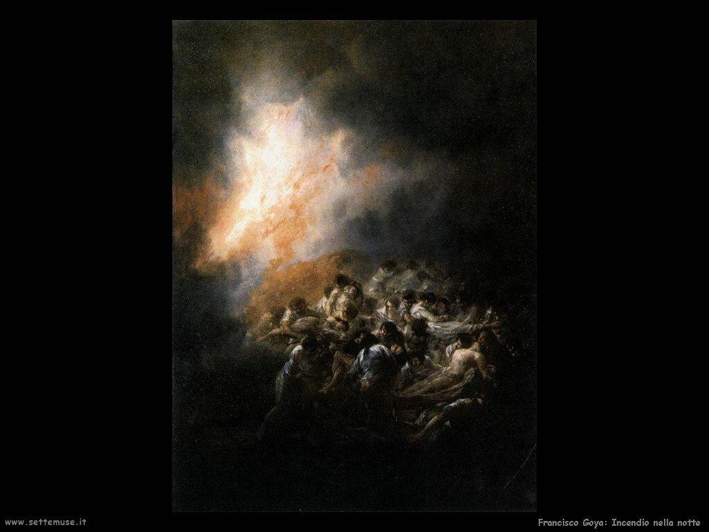 Francisco de Goya incendio notturno