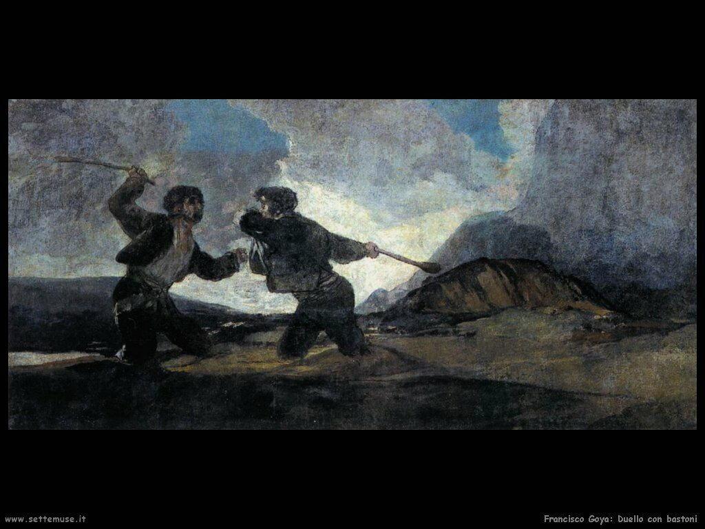 Francisco de Goya duello con bastoni