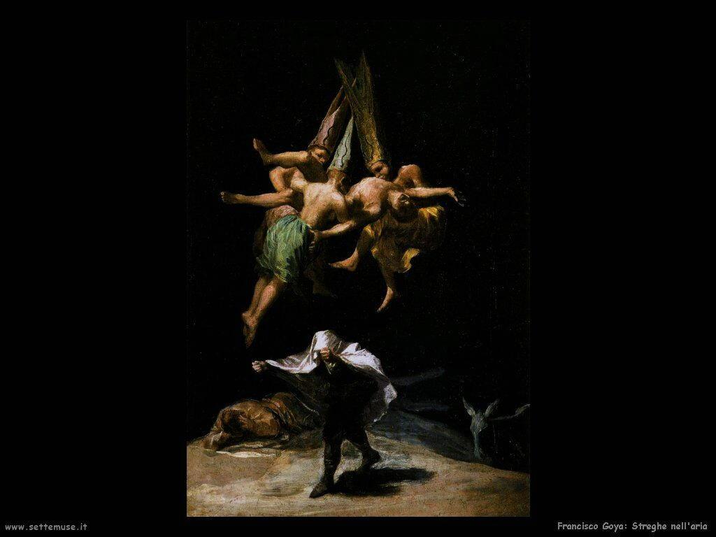 Francisco de Goya streghe nell aria