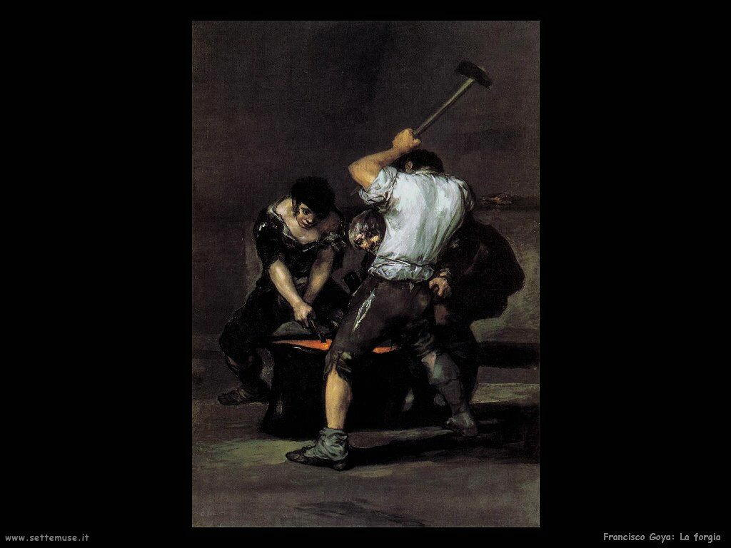Francisco de Goya la forgia