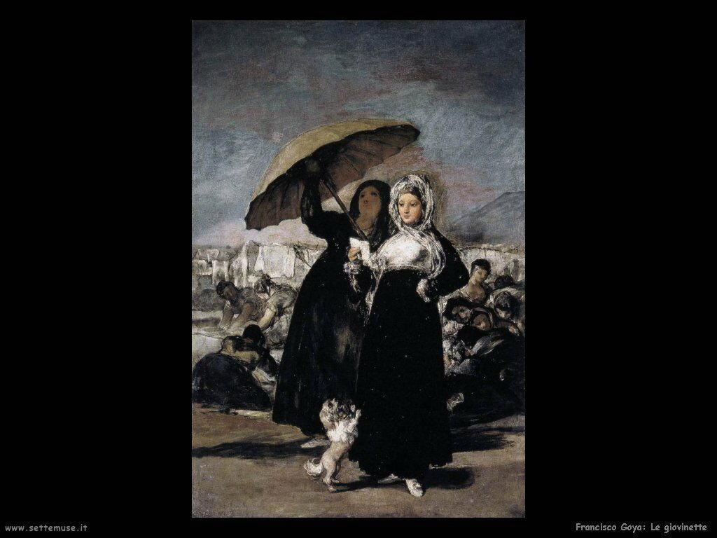 Francisco de Goya le giovinette