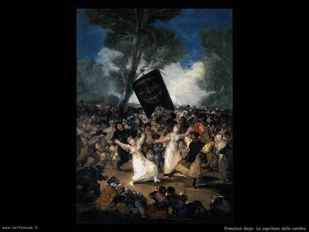 Francisco de Goya sepoltura della sardina