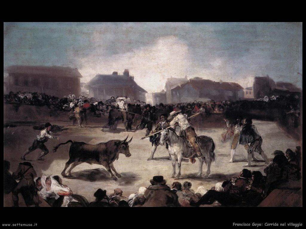 Francisco de Goya corrida al villaggio
