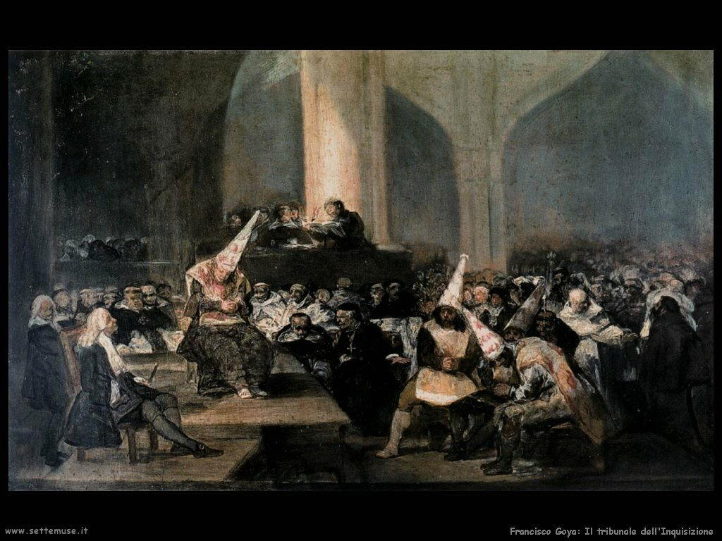 Francisco de Goya tribunale dell inquisizione