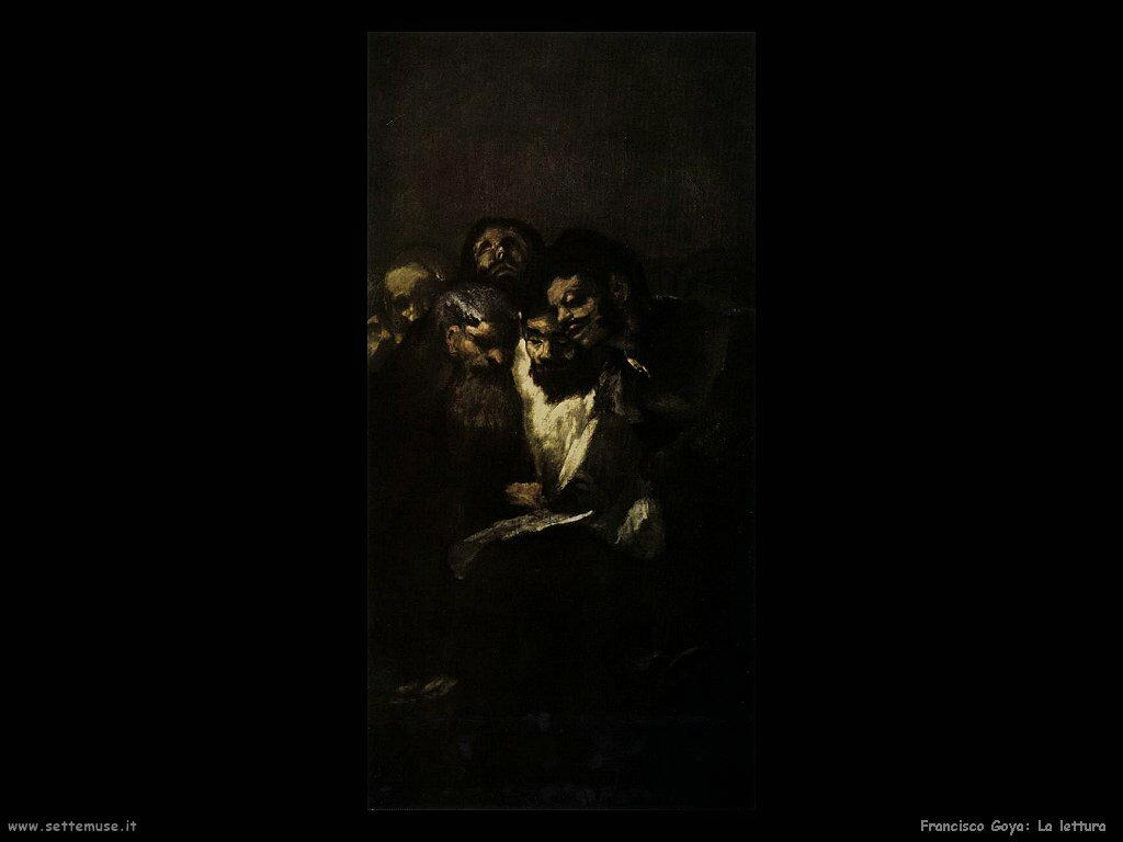 Francisco de Goya in lettura