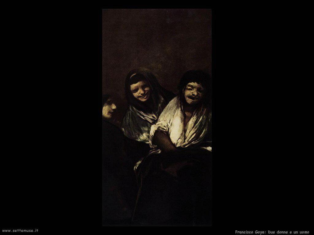 Francisco de Goya due donne e un uomo