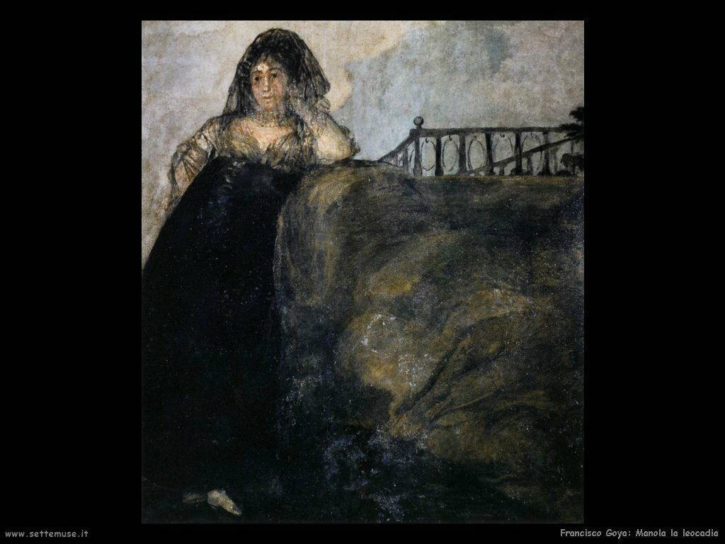 Francisco de Goya manola la leocadia