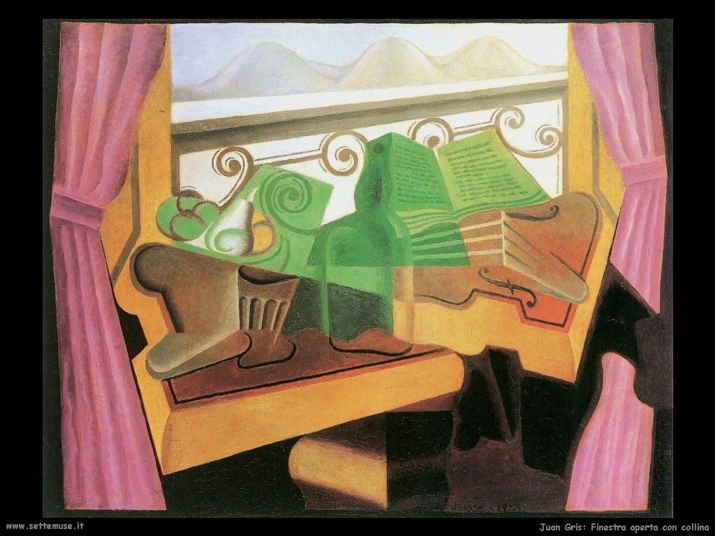 Juan gris pittore biografia opere quadri for Disegno di finestra aperta