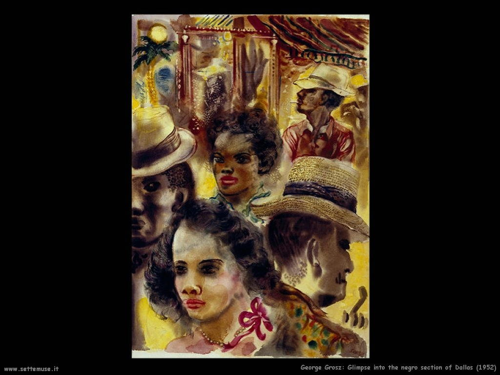 george_grosz_022_Glimpse_into_the_Negro_Section_of_Dallas_1952