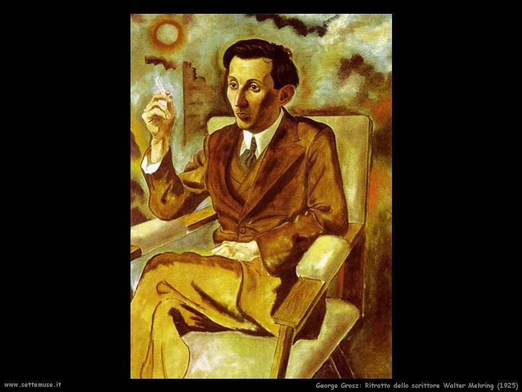 george_grosz_043_ritratto_dello_scrittore_walter_mehring_1925