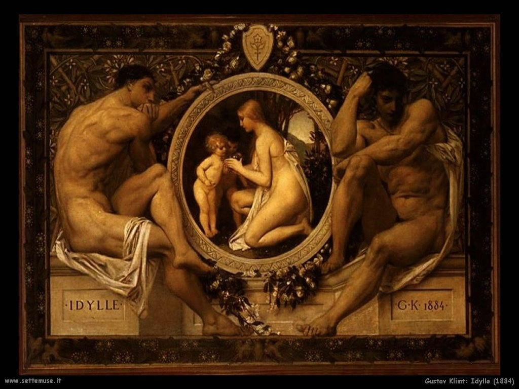 Klimt 1884_idylle