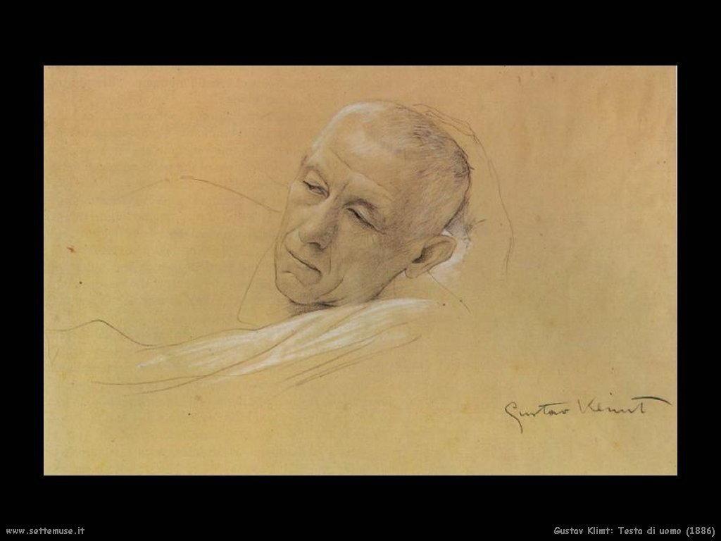 Klimt 1886_testa_di_uomo