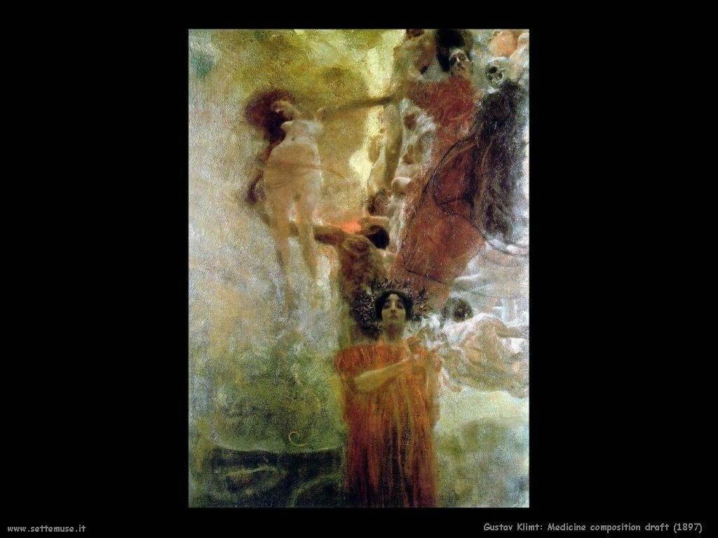 Klimt 1897_medicine_composition_draft
