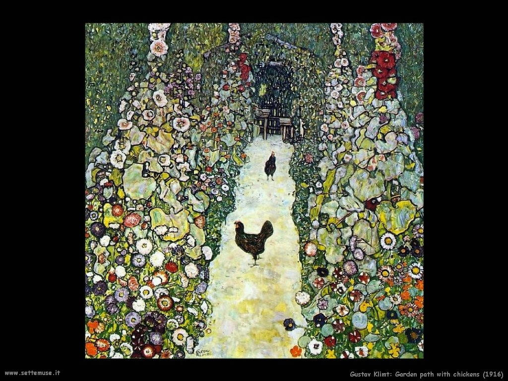 1916_garden_path_with_chickens