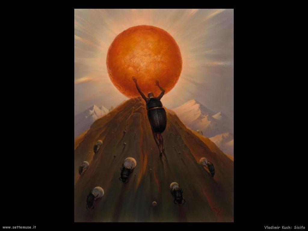 Il mito di Sisifo di Camus Vladimir_kush_020_sisifo