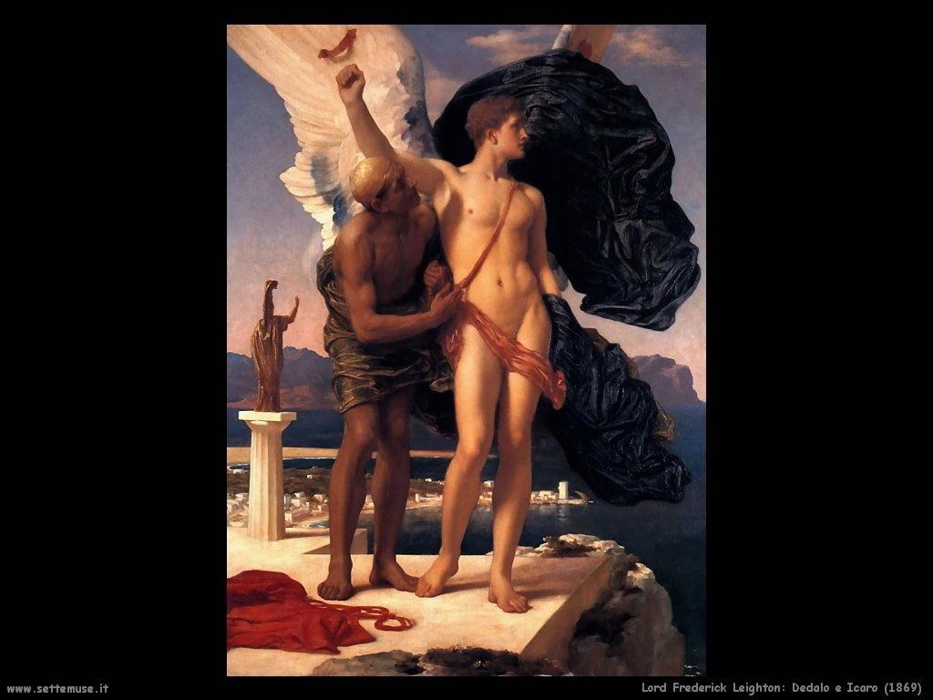 Dedalo e Icaro: l'uomo, il volo e la caduta. Significato di una leggenda. Frederick_leighton_004_dedalo_e_icaro_1869