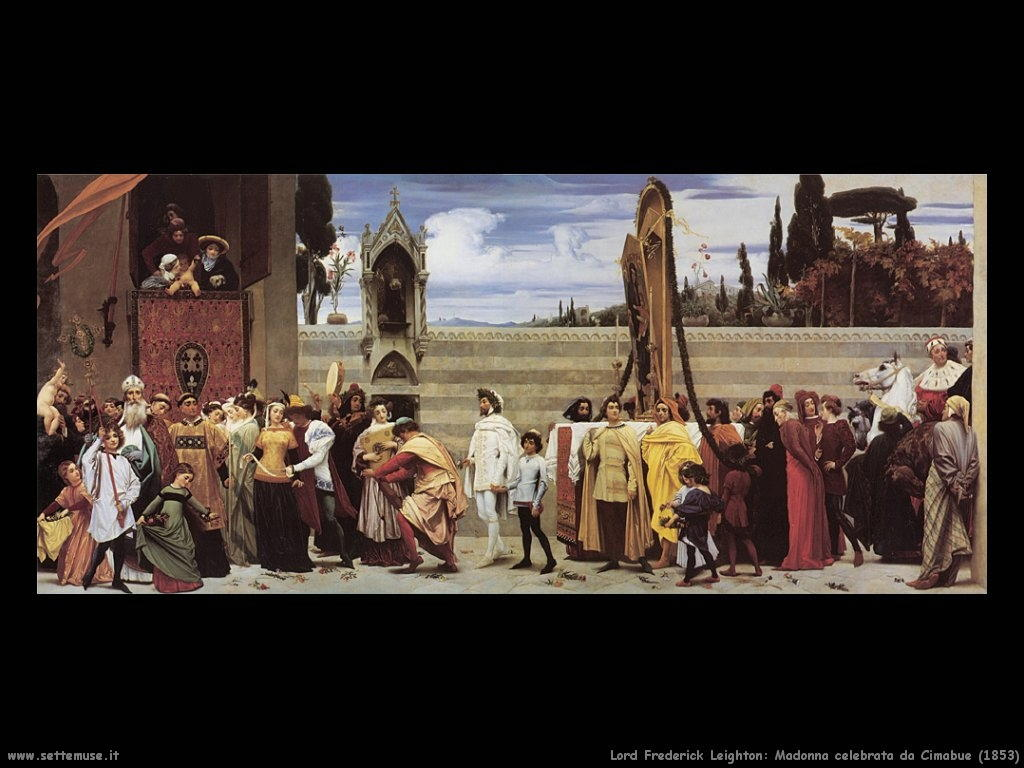 madonna_celebrata_da_cimabue_1853 Lord Frederick Leighton