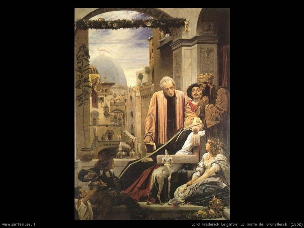 la_morte_di_brunelleschi_1852 Lord Frederick Leighton