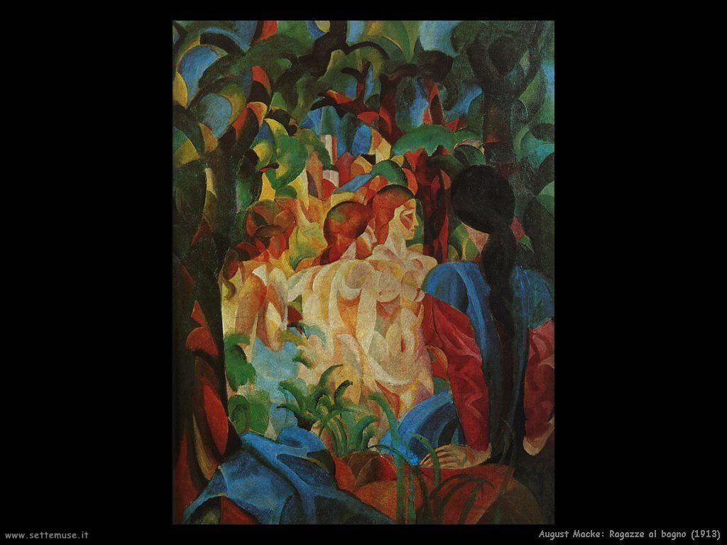 august_macke_ragazze_al_bagno_1913