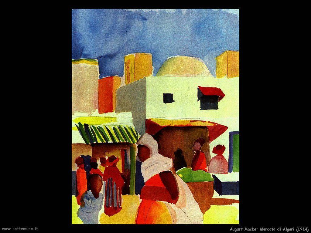 august_macke_mercato_di_algeri_1914