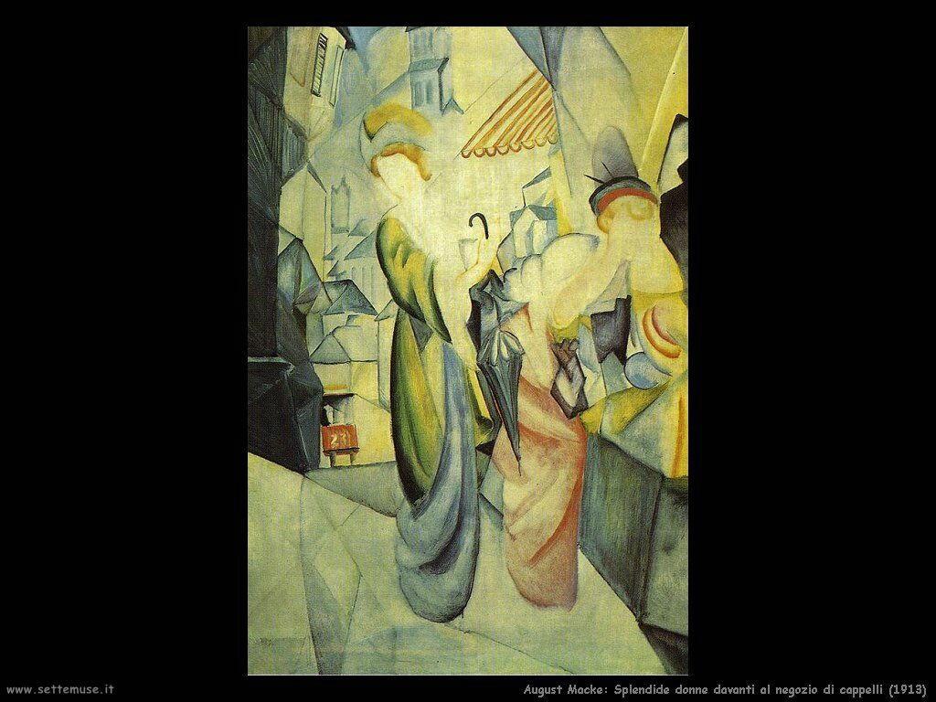 august_macke_splendide_donne_davanti_al_negozio_di_cappelli_1913
