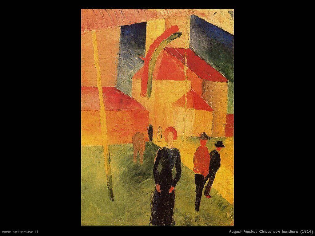 august_macke_chiesa_con_bandiere_1914