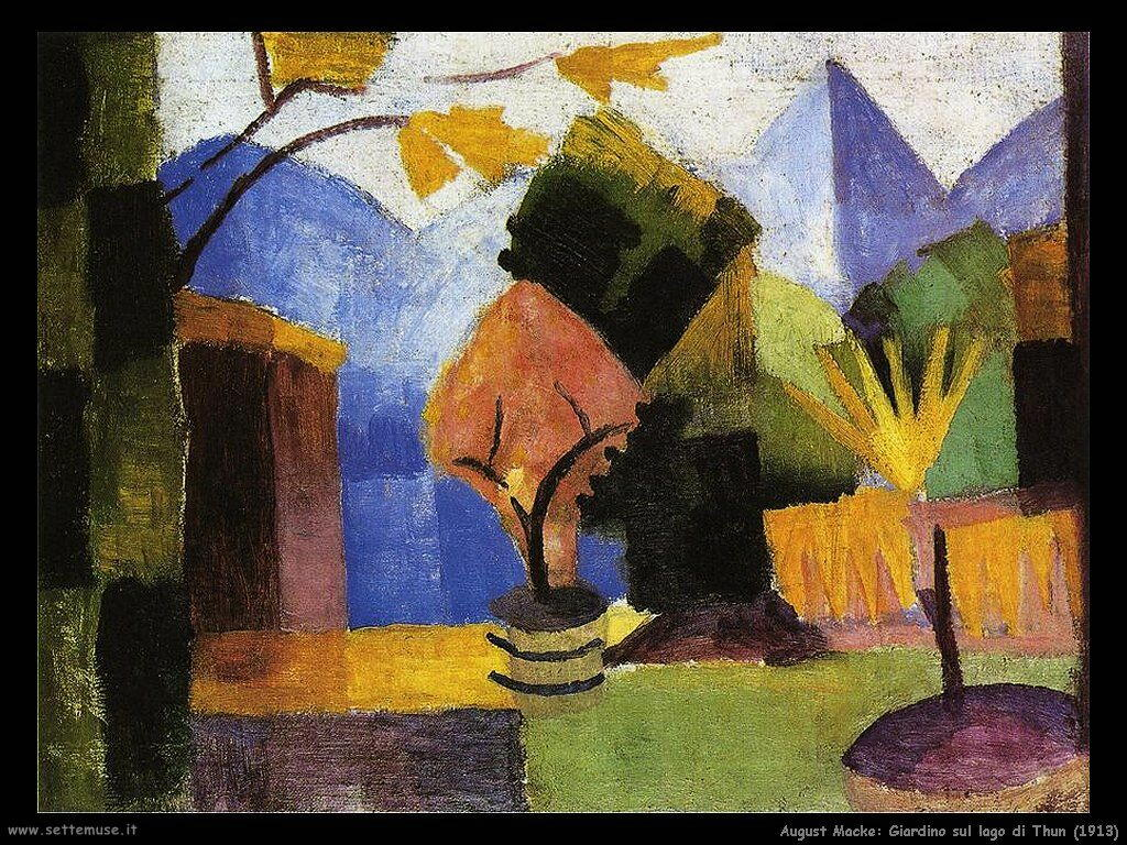 august_macke_giardino_sul_lago_di_thun_1913